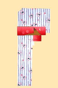 伏见稻荷店-小纹和服-猫,SIZE:F