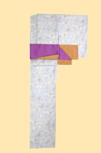 伏见稻荷店-小纹和服-薄い/花,SIZE:F